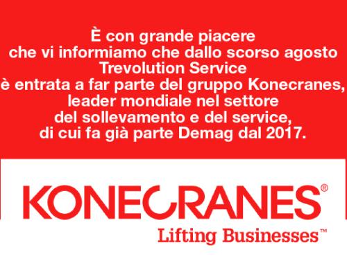 Trevolution Service è entrata a far parte del gruppo Konecranes